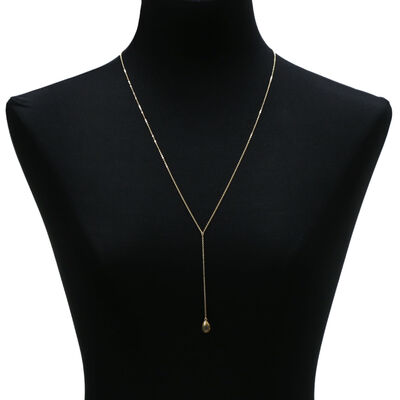 "Citrine ""Y"" Necklace 14K"