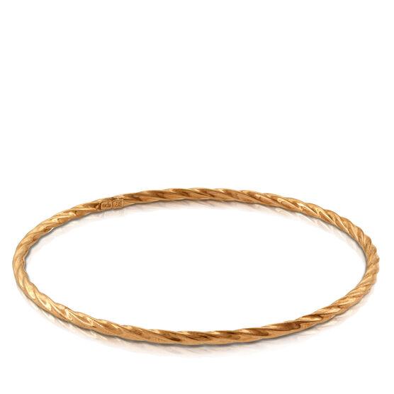 Rose Gold Twisted Bangle 14K