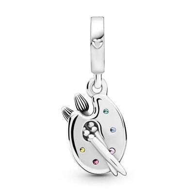 Pandora Artist's Palette Crystal & CZ Dangle Charm