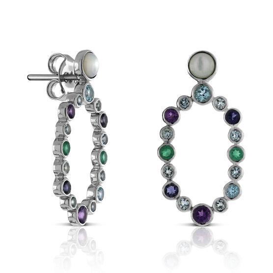 Lisa Bridge Scattered Gemstone Earrings
