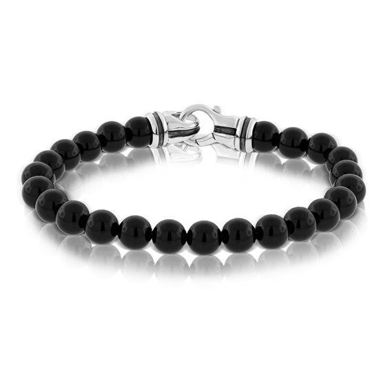 Onyx Men's Bead Bracelet