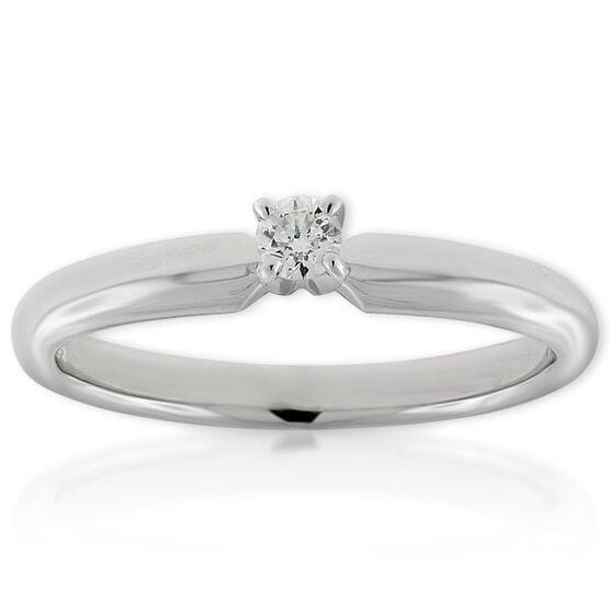 Ikuma Canadian Diamond Ring 14K, 1/10 ct.