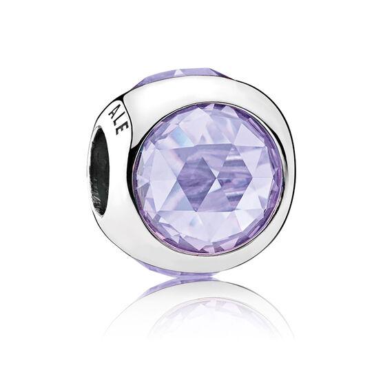 Pandora Radiant Droplet, Lavender CZ Charm