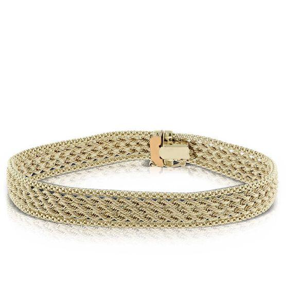 Toscano Triple Row Rope Bracelet 14K