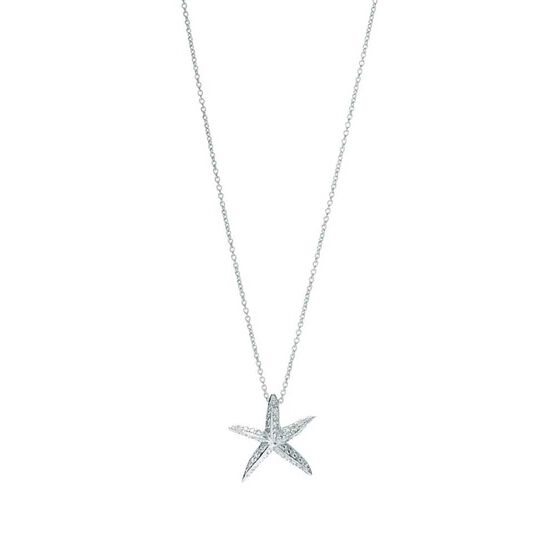 Roberto Coin Tiny Treasures Diamond Starfish Necklace 18K