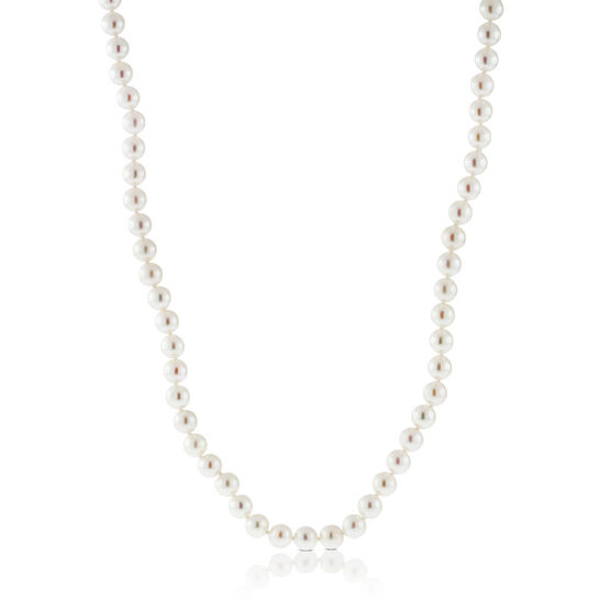"""Akoya Cultured Pearl Necklace 6mm, 14K, 18"""""""