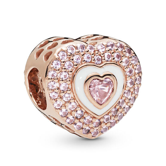 Pandora Rose™ Hearts on Hearts Crystal & Enamel Charm
