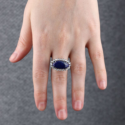 Lisa Bridge Lapis & Mother of Pearl Ring
