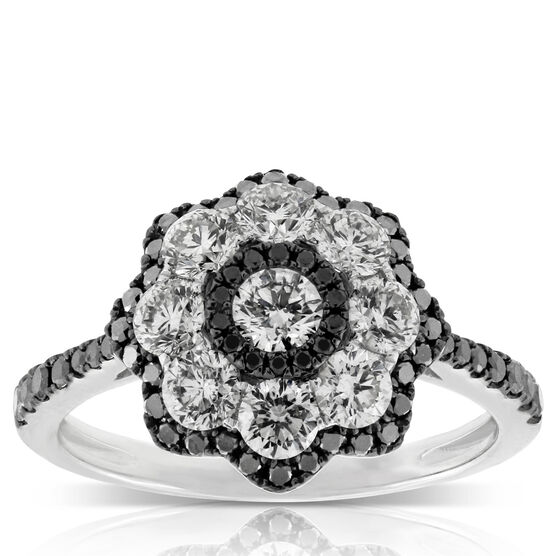 Black & White Diamond Ring 14K