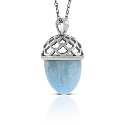 Lisa Bridge Aquamarine Wave Bullet Pendant