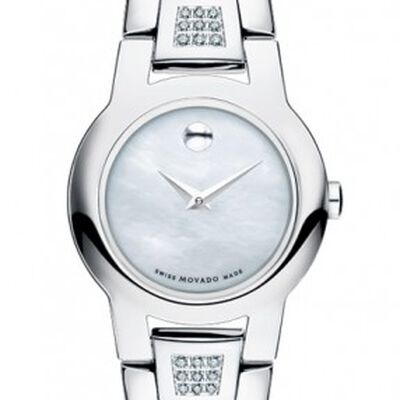 Movado Amorosa Mother-of-Pearl Diamond Watch