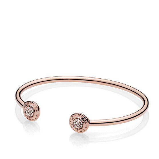Pandora Rose™ Pandora Signature Open Bangle CZ Bracelet