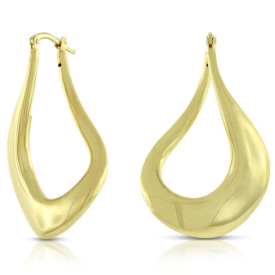 Toscano Curled Hoop Earrings 14K