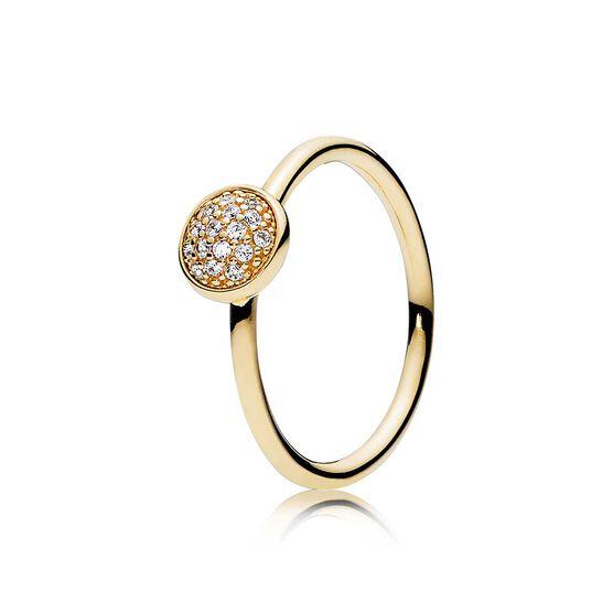 Dazzling Droplet CZ Ring 14K
