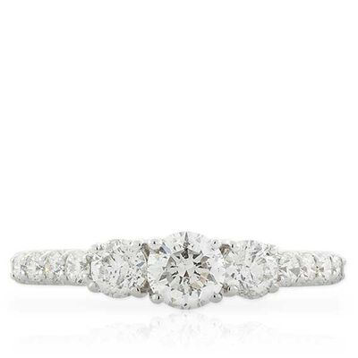 Diamond 3-Stone Ring 14K