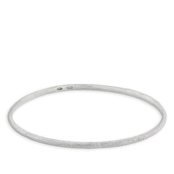 Oval Bangle Bracelet in Sterling Silver