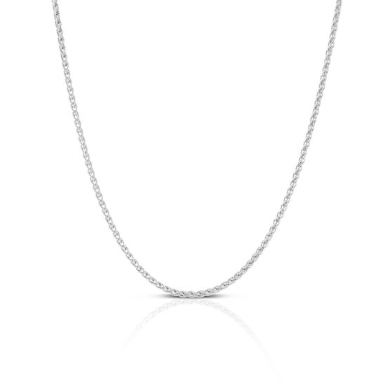 Round Wheat Chain in Silver, 24""