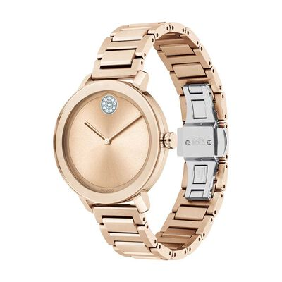 Movado Bold Rose Ion & Crystal Watch