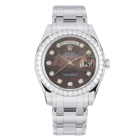 Pre-Owned Rolex Oyster Perpetual Day Date-Pearlmaster Watch, 39mm, Platinum