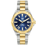 TAG Heuer Aquaracer Two-Tone Blue Dial Watch, 41mm, 18K & Steel
