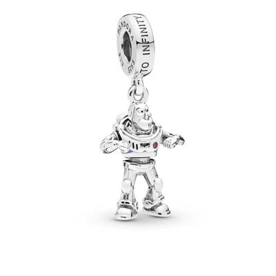 Pandora Disney Pixar, Toy Story, Buzz Lightyear Dangle Enamel Charm