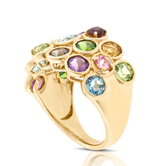 Multi-Gem Ring 14K