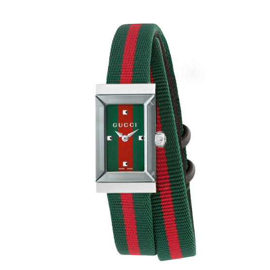 Gucci G-Frame Green-Red Watch