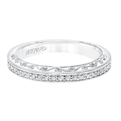 ArtCarved Diamond Wedding Band 14K