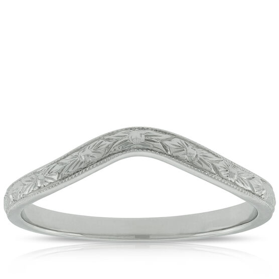 Hand Engraved Band in Platinum
