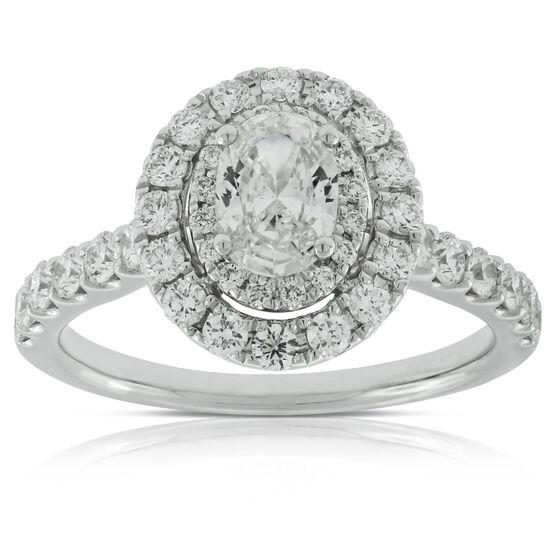 Oval Cut Diamond Engagement Ring 14K