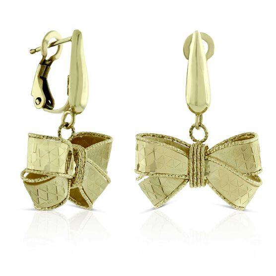 Toscano Bow Dangle Earrings 14K