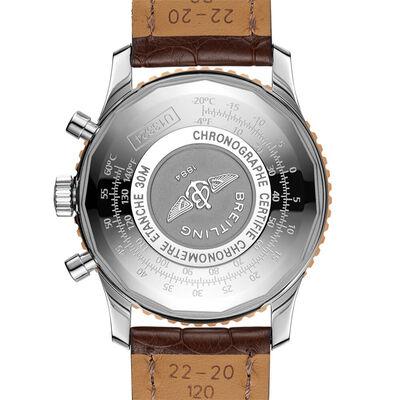 Breitling Navitimer Chronograph 41 Silver Watch, 18K & Steel