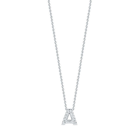 Roberto Coin Tiny Treasures Diamond Initial Pendant 18K Letter 'A'