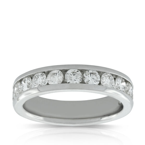 Channel Set Diamond Band 14K, 1.23 ctw.