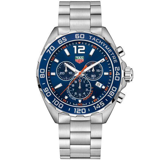 TAG Heuer Formula 1 Quartz Mens Blue Steel Chronograph Watch