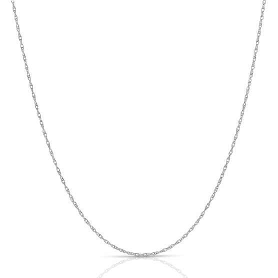White Gold Rope Chain 14K, 18""