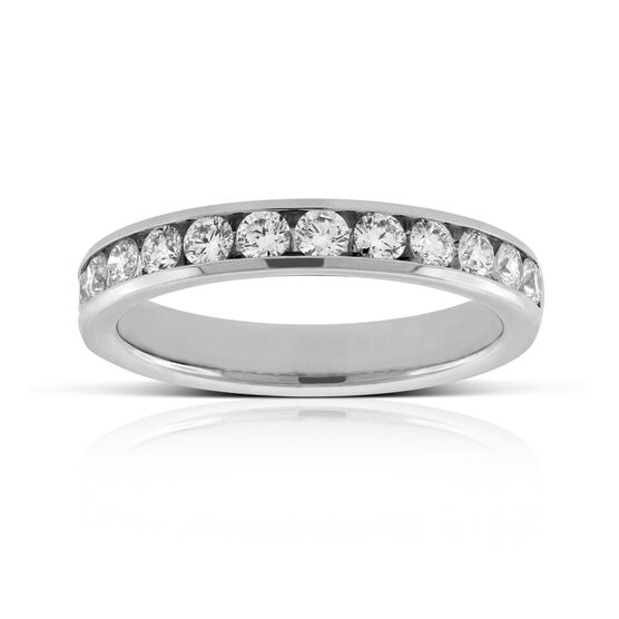 Channel Set Diamond Ring in Platinum, 3/4 ctw.