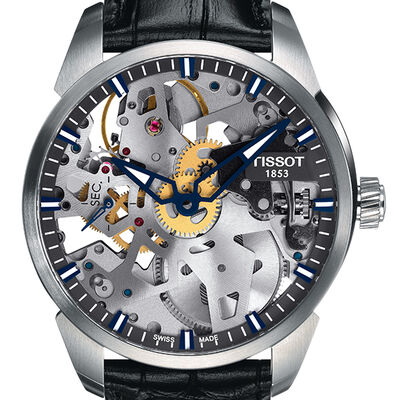 Tissot T-Complication Squelette Skeleton Dial Mechanical Watch, 43mm
