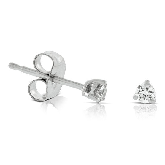 Diamond Solitaire Earrings 14K, 1/10 ctw.