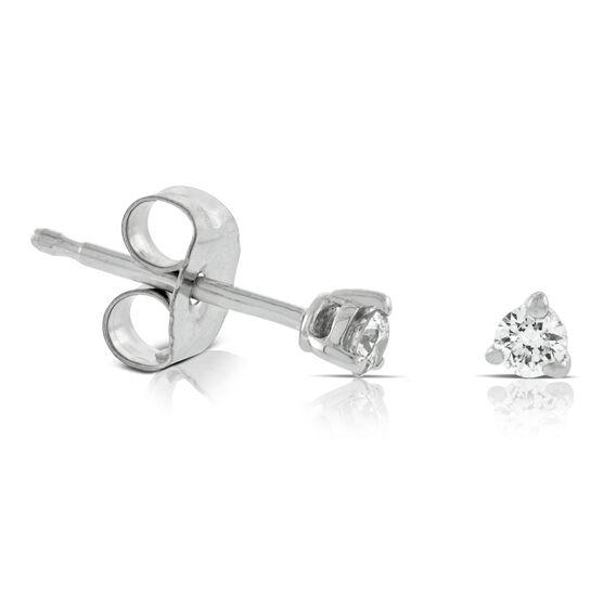 Diamond Solitaire Earrings 14K, 1/10 ctw.
