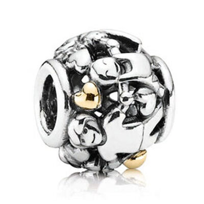 Pandora Family Forever Charm, Silver & 14K