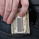 Cable Money Clip in Stainless Steel