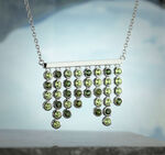 Lisa Bridge Bezel Set Peridot & Tourmaline Necklace