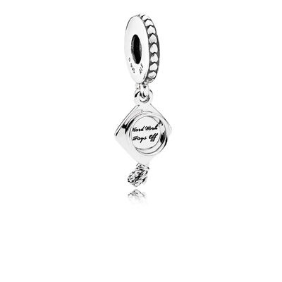 Pandora Graduation Cap Dangle CZ Charm
