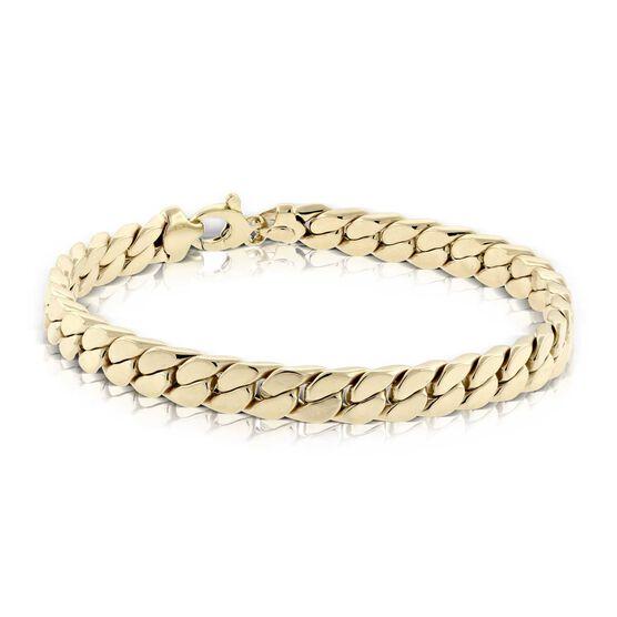 """Toscano Square Link Bracelet 8.5"""", 14K"""