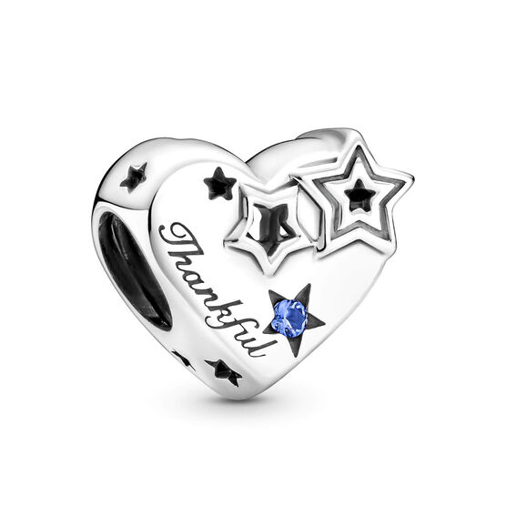 Pandora Thankful Heart & Stars Crystal Charm