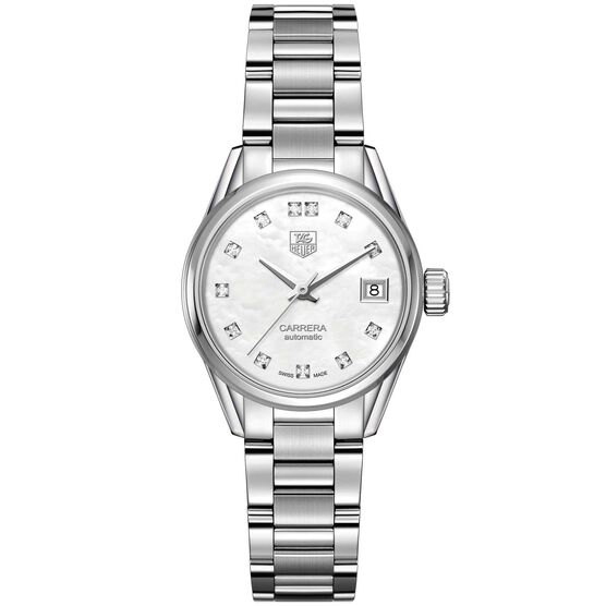 TAG Heuer Carrera Calibre 9 Automatic Ladies Mother of Pearl Steel Watch