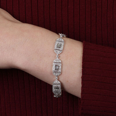 Decorative Diamond Bracelet 18K