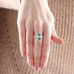 Green Tourmaline & Diamond Ring 14K