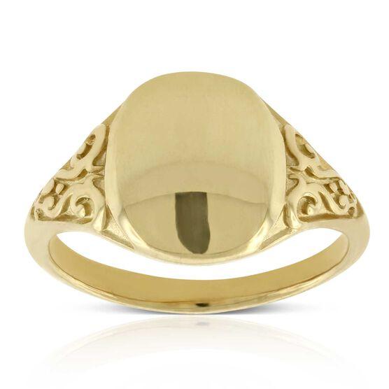 Toscano Signet Ring 14K
